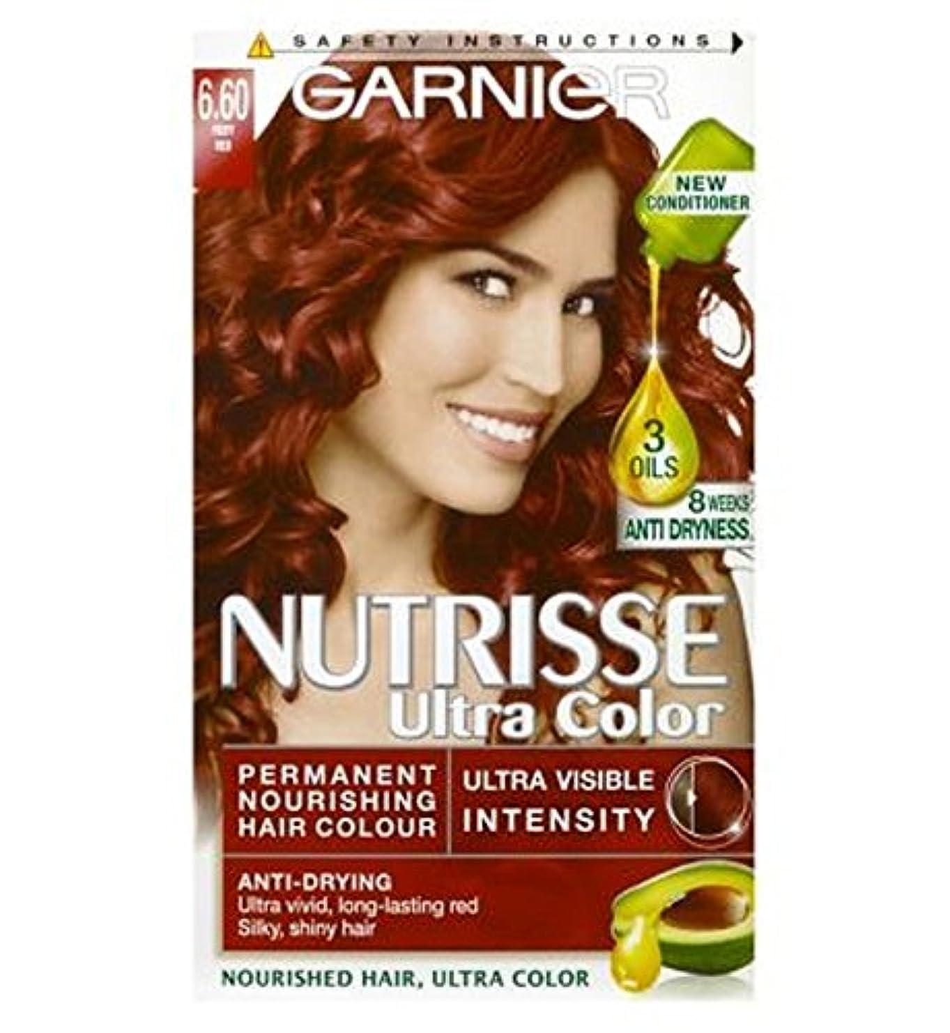 バリー明示的にオフガルニエNutrisse超永久色6.60燃えるような赤 (Garnier) (x2) - Garnier Nutrisse Ultra Permanent Colour 6.60 Fiery Red (Pack of 2) [並行輸入品]