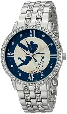 Disney Women's W001830 Tinker Bell Analog Display Analog Quartz Silver Watch