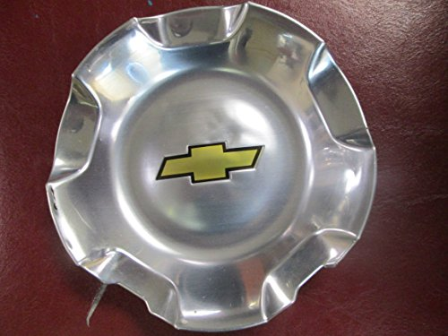 20 Inch OEM Chevy 6 Lug Polished Aluminum Center Cap Hubcap Wheel Cover 2007-2014# 9595152 or 9596007 5308 Silverado Suburban Tahoe Avalanche 1500 Pickup Truck SUV