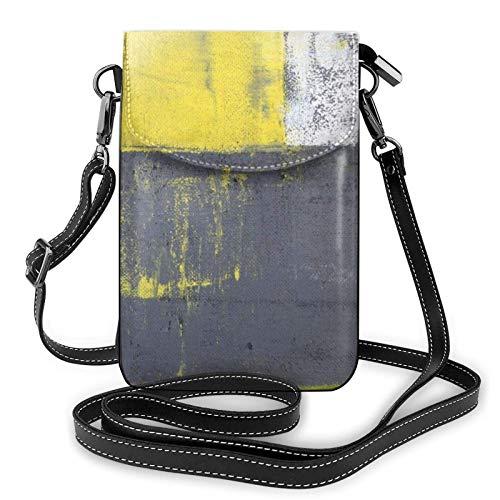 Handy Geldbörse Crossbody Street Art Modernes abstraktes Design Frauen Pu Leder Mode Handtasche mit verstellbarem Riemen