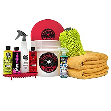Chemical Guys HOL132 Best Car Wash Bucket Kit with Dirt Trap, 16 fl. oz (11 Items)