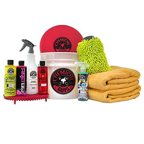 Chemical Guys HOL132 Best Car Wash Bucket Kit with Dirt Trap, 16 fl. oz, 11 Items