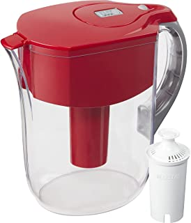 Brita Grand Water Filter Pitcher, Red, 10CUP BY Brita