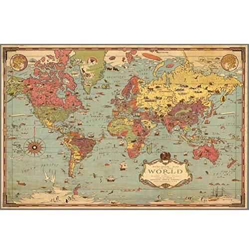 World Map houten puzzel, 1000, 1500, 2000, 3000, 5000, 5700 stukjes van de puzzel Moeilijk Simple Game, geschikt voor volwassen kinderen Holiday Gifts
