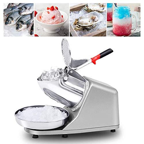 XLQ Trituradora de Hielo Eléctrica Comercial Máquina de Afeitar ICEE Snow Cone Maker Máquina de Acero Inoxidable 250W 1450 r/min 143 lbs/HR