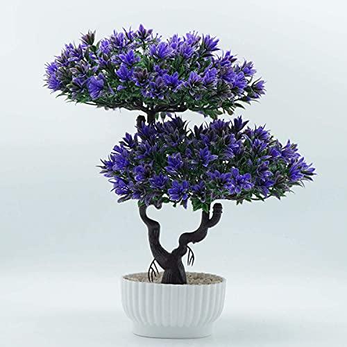 QTQZ Árbol de bonsái Artificial Decoración de Plantas de Cedro Falso Plantas de imitación en macetas Cedro de bonsái japonés Decoración de Interior para el hogar Exhibición de Mesa, 31 cm de Alto