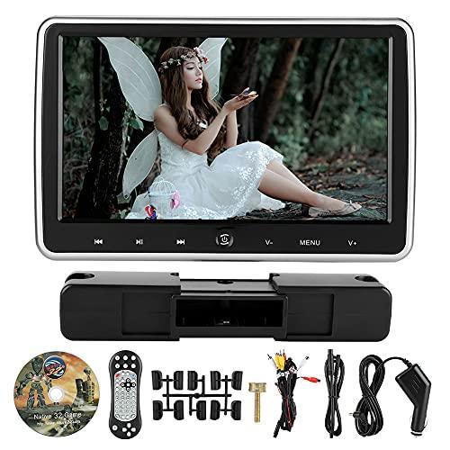 OIHODFHB Pantalla digital táctil botón externo coche DVD Color LCD reposacabezas Monitor (10.1 pulgadas)