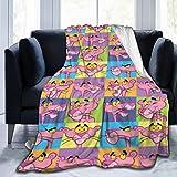 1122 Pin-k Panthe-r Fleece Blanket Lightweight Super Soft Cozy Bed Blanket Microfiber Multi-Size for All Seasons,50'x40'