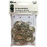 Yline 10 botones para vaqueros plateados de 20 mm, botones de metal, sin costura, en pack SB 3070