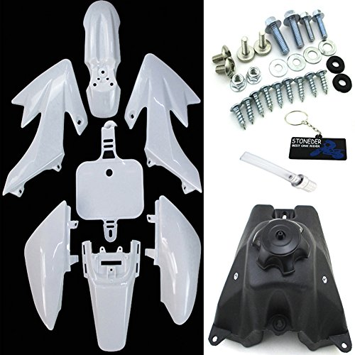 STONEDER Tank + Kit de Guardabarros para Honda XR50 CRF50 Pit Dirt Trail Motor Bike