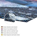 Poster 60 x 40 cm: Abends am Meer mit Buhnen – Schwarzweiss von Frank Herrmann – hochwertiger Kunstdruck, neues Kunstposter - 3