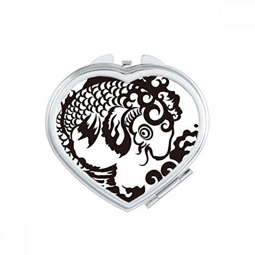 DIYthinker Animaux en Forme de Coeur Cartoon Coeur de Papillon Maquillage Compact Miroir de Poche Miroirs Mignon Petit Cadeau Portable à la Main Multicolor