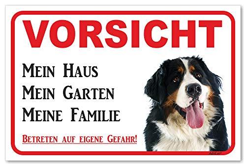 AdriLeo Schild - Vorsicht Berner Sennenhund - Mein Haus - (20x30cm) / Achtung Hund Wachhund