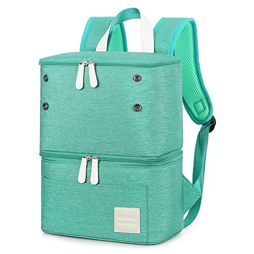 Milchpumpen-Rucksack – Kühl- und feuchtigkeitsbeständige Tasche, doppellagig, für Mütter im Freien, Arbeitsrucksack, mittelgroß, Gr�n (grün), Large