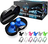 Rvnor 6 Sets Reusable Silicone Swimming Ear Plugs Nose Clip Nose Protector Swimming Sets...