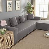 Funda elástica para sofá esquinero en Forma de L con Funda para...