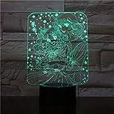 Bonita chica 3D LED noche luz para decorar hermoso patrón vacaciones regalos USB luces