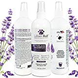 Lillian Ruff Waterless Dog Shampoo - No Rinse Quick Dry Shampoo Spray for Dogs and Cats - Tear Free Lavender Coconut Scent to Deodorize Pet Odor and Freshen Coat - Made in USA (16oz Lavender)
