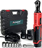 ⚡ POWERFUL TORQUE - AOBEN electric ratchet wrench offers 12 Volt Max motor and plenty torque at 40ft-lbs to remove or install bolts (or nuts). Includes 2 battery, 1 charger and 8 bolts. ⚡ SUPERIOR FASTENING SPEED- Ratchet wrench set superior fastenin...
