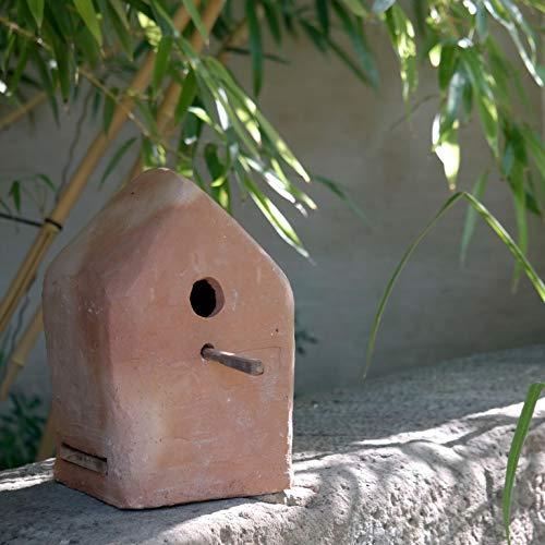 Palatina Werkplaats vogelhuis/vogelvilla om op te hangen of neer te zetten, van absoluut vorstbestendig terracotta, met de hand gemaakt unicaat