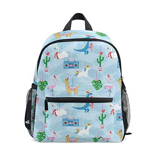 Schultasche Vorschulrucksack Blockflöte Flamingo Kaktus Dinosaurier Kindergarten Kindergarten Kindergarten Rucksack Büchertasche für Mädchen Jungen Kleinkind Alter 3-8 Kinder