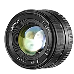 Lens construction: 7 elements in 5 groups, aperture range of f1.2-f16 The APS-C lens minimum focusing distance of 0.3meters/ 11.8inches, focal length of 35mm, filter size of 49mm. Compatible with Sony APS-C frame mirrorless camera such as A7III A9 NE...