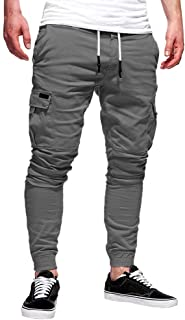 hositor Jogger Pants for Men, Fashion Men's Sport Pure Color Bandage Casual Loose Sweatpants Drawstring Pant