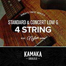 KAMAKA(カマカ) ウクレレ 弦セット (ソプラノ コンサート 兼用 ブラックナイロン ロウジー S-1 Low-G Standard & Concert 4 Strings)