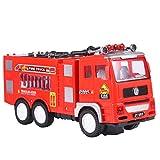 Tomaibaby - Juguete de camión de bomberos para niños, camión de bombero eléctrico con luces para coche, camión de emergencia, incendios de ciudad, camiones de