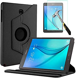 "Capa Giratória Tablet Samsung Galaxy Tab A 8"" SM-P350 / P355 / T350 / T355 + Película de Vidro - Preta"