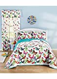 Carol Wright Gifts Butterfly Garden Bedding Curtains, Size Curtains (84' L)