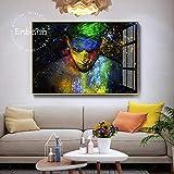 BailongXiao Cuadro En Lienzo Colorido salón Masculino HD impresión Lienzo Pintura al óleo decoración del hogar60x90cmPintura sin Marco