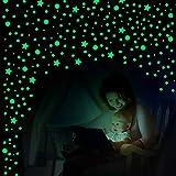 749 Pegatinas de Pared con Estrellas de Brillar en Oscuridad y Puntos Pegatinas de Estrellas Brillantes Pegatinas de Techo Adhesivas Luminosas Fluorescentes para Niños Dormitorio Cumpleaños (Verte)
