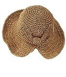 WEIGEER Sombrero de playa con visera ancha plegable para mujer y niña, con arco de viaje