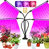 LED Grow Light, 80 LEDs Full Spectrum Plant Grow Light for Indoor Plant, Timer Plant Grow Light, 360°Adjustable Gooseneck Grow Lamp with 4 Heads for Seedling Growing Blooming Fruiting