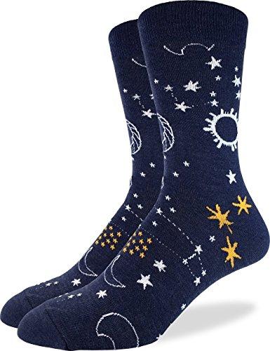 Good Luck Sock Men's Starry Night Socks, Adult