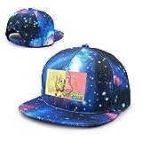 Hongyang - Gorra de bisbol unisex con diseo de Bob Esponja con Patrick Galaxy Hip Hop de algodn, con visera plana, color azul