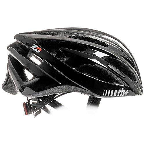 rh+ Casco Bici Ciclismo Uomo Donna da Corsa e MTB (XS-M 54-58, Shiny Anthracite Metal-Shiny Black)