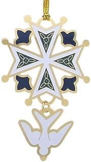 Chuck Norton Enamel Huguenot Cross Ornament
