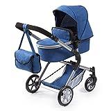 Bayer Design 18135AA Cochecito de muñecas City Neo, Convertible, Azul, Jeans