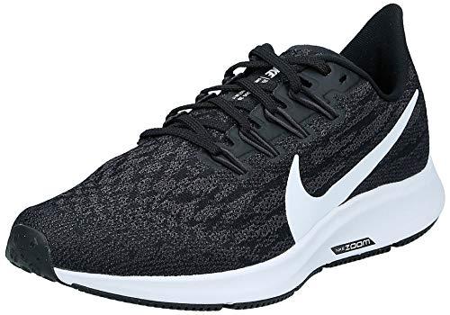Nike Air Zoom Pegasus 36, Zapatillas de Atletismo Mujer, Multicolor (Black/White-Thunder Grey 4), 36.5 EU