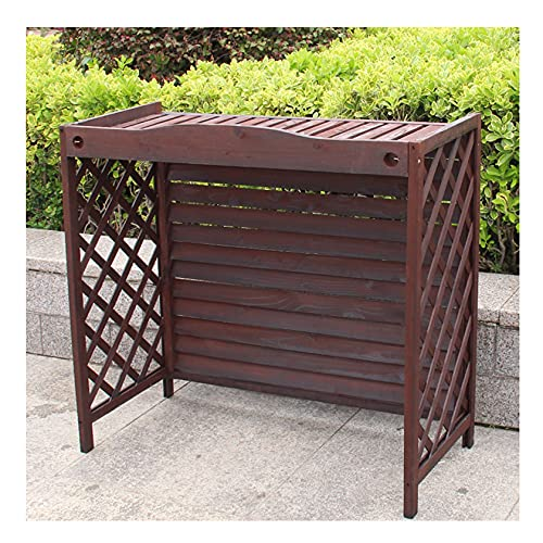 XJBHRB Flower Stand Wooden Air Conditioning Rack, Air Conditioner Fence Screen, Conditioning Shell Blinds Solid Wood Air Conditioning Cover Outdoor Plant Storage For Outside To Hide Air Conditioner