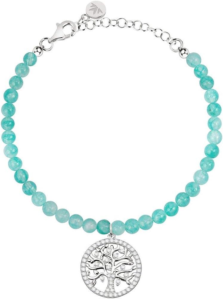 Morellato, bracciale da donna, collezione albero della vita, in argento 925 e cristalli SATB05