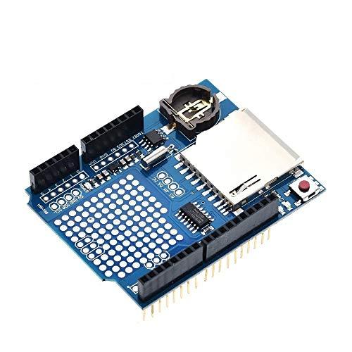 QWERTOUR Data Logger Module Logging Recorder Shield V1.0 for Arduino UNO SD Card