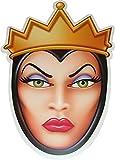 Halloween Disney Malvada madrastra (Reina) de Blancanieves (Snow White) - Máscaras de Disfraces Hechas de Tarjeta rígida - Producto Oficial de Disney