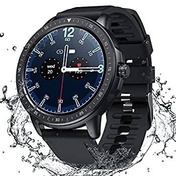 Smart Watch for Women Men,Fitness Tracker with Heart Rate,Blood Pressure,Blood Oxygen,IP67 Waterproof Pedometer Smartwatch with Sleep Tracker,Steps,Music,Weather Forecast for Android iPhone Black