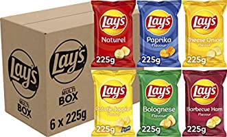 Lay's Multibox Chips, Doos 6 stuks x 225 g
