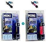 SAWYER Mini - Filtre d'eau pour randonnée, Accessoire Camping, Trekking, Mini Set de 2 purificateur d'eau de Robinet + Sachet 2 x 0.5Litre (Set de 2 Noir-Rose)