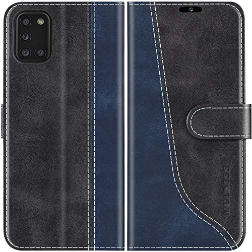 Mulbess Custodia per Samsung A31, Cover Samsung A31 Libro, Custodia Samsung Galaxy A31 Pelle, Flip Cover per Samsung Galaxy A31 Portafoglio, Nero