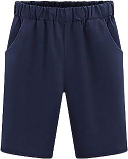 6de7fbec51 Donna Pantaloncini Taglie Forti Estivi Casual Locker Shorts Bermuda Base  Monocromo Hot Pants Moda Giovane Unisex